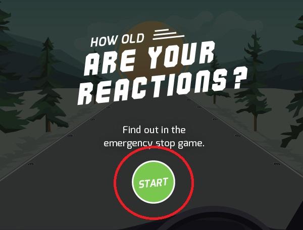反射神経年齢がわかるゲーム