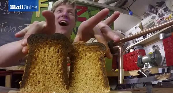 パンをカットしながらトーストできるナイフ
