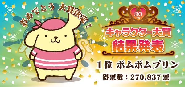 第30回サンリオキャラクター大賞