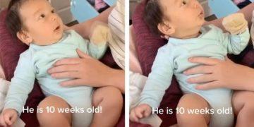 【動画】生後3ヶ月の赤ちゃんがママに「アイラブユー」